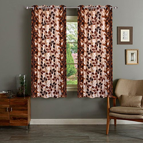 Dailz Designer 2 Piece Polyester Window Curtain Set – 5ft, Multicolour (IWS-CT-2043)