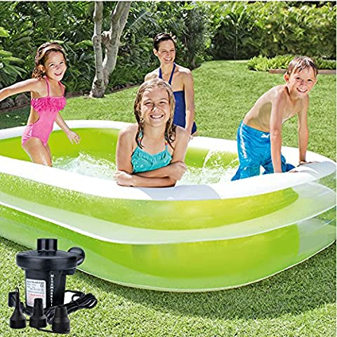 Intex Vinyl Inflatable Swim Center Family Lounge Swimming Pool with Electric Pump - Seahawk 200 Inflatable Boat