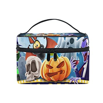 ALIREA Halloween Charaters Cosmetic Bag Travel Makeup Train Cases Storage Organizer