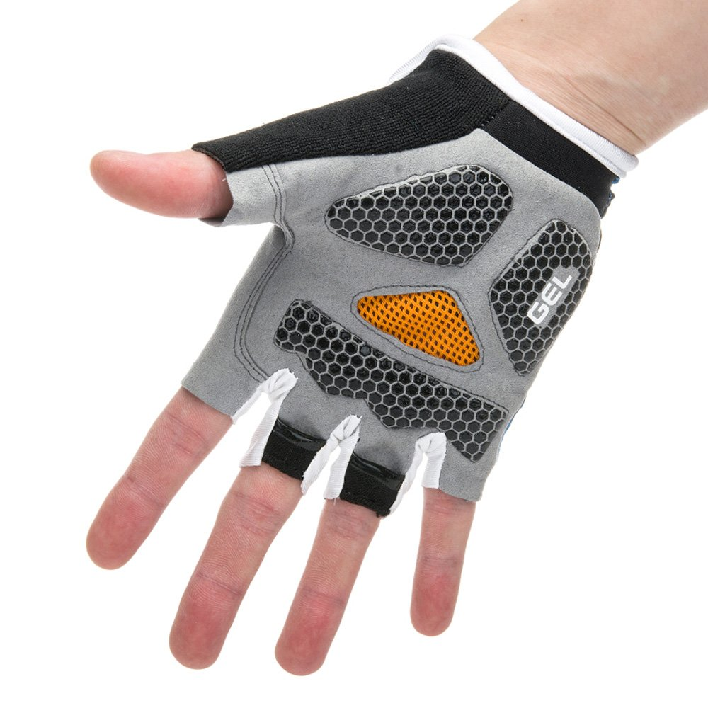 Ezyoutdoor Bike Full Finger Glove Riding Glove Breathable Unisex Reflex Outdoor Cycling Skiing Skateboard Shock Pads by ezyoutdoor (Image #3)