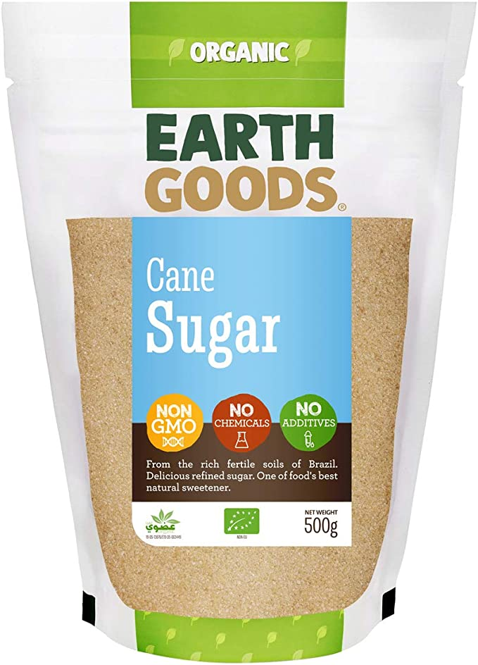 Earth Goods Organic Cane Sugar NON-GMO, NO Chemicals, NO Additives 500g: Buy Online at Best Price in UAE - Amazon.ae