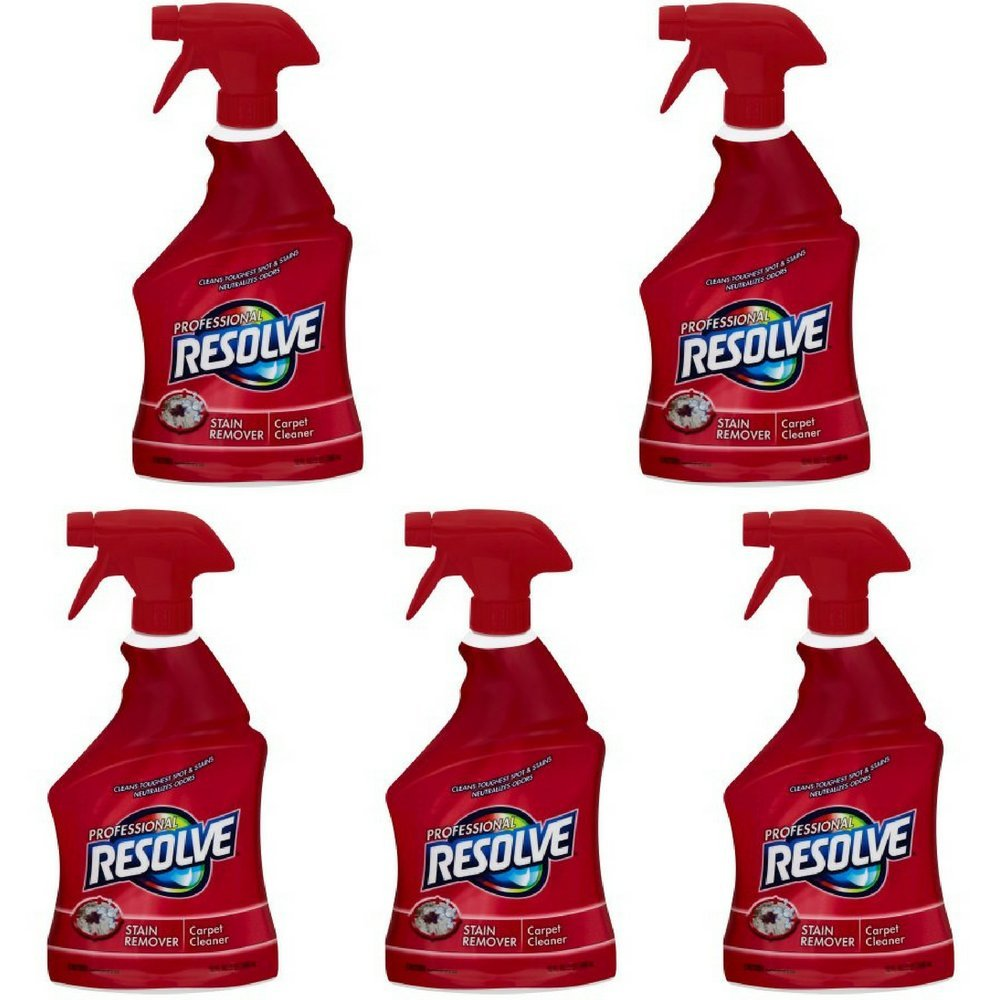 Resolve Professional Strength Spot and Stain Carpet Cleaner, 32 oz (5 spray bottles)