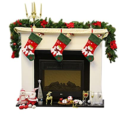 """HiSiFang 18"""" Christmas Pendant Stockings for Fireplace Ornaments Home  Decorations Kids' Toy Stockings Gift - Amazon.com: HiSiFang 18"""