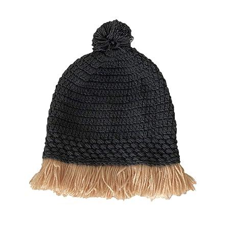 FENICAL gorro de crochet de invierno a prueba de viento: Amazon.es ...