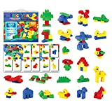 [177 Pieces] Compatible Large Building Block Toys by Brickyard, For Children Ages 1.5-5, Fits DUPLO Blocks - Bulk Block Set