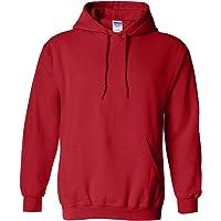 Gildan Mens Men's Fleece Hooded Sweatshirt Dark Chocolate