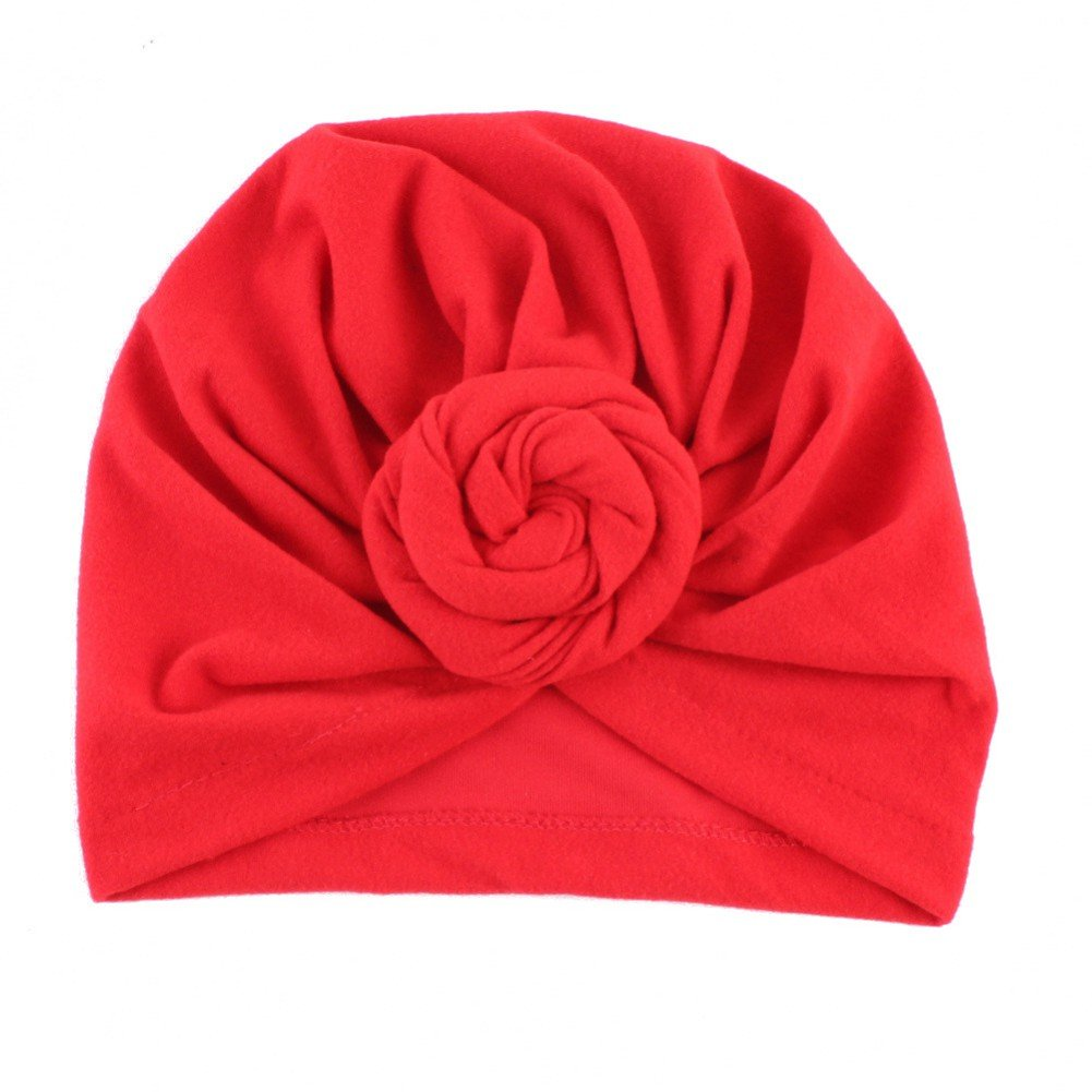 Doubleer Baby Knit Hat Cap Indian Style Unisex Baby Headscarf Cap Children's Hat Yoga Cap For 0-5 Years