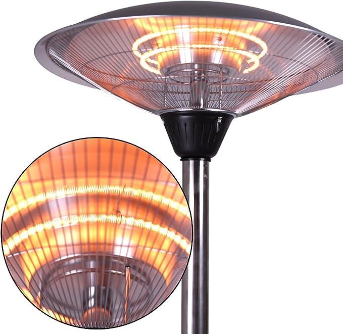 Free-Standing Indoor/Outdoor Heater Sundate Electric Patio Heater ...