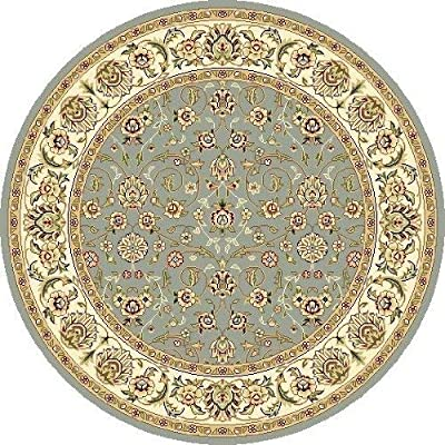 Safavieh Lyndhurst Collection LNH312B Traditional Oriental Light Blue and Ivory Square Area Rug