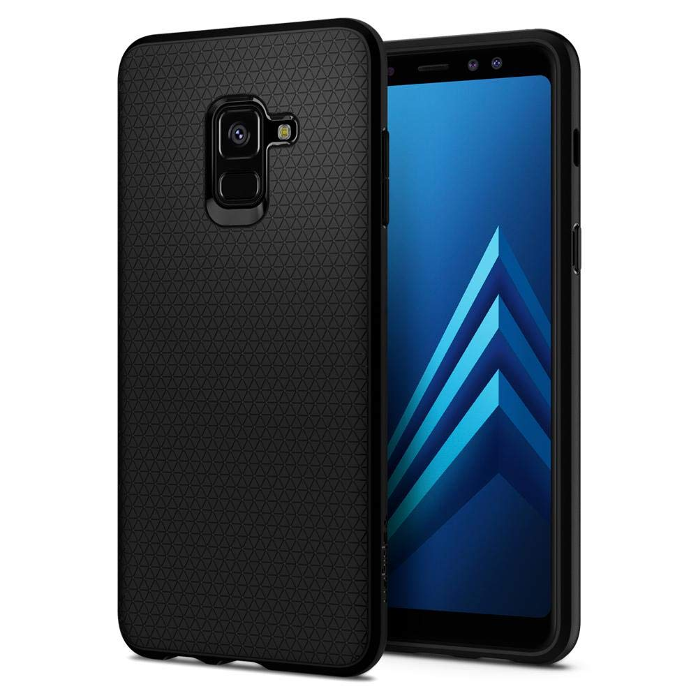 Spigen Liquid Air Armor Galaxy A8 Case with Durable Flex and Easy Grip Design for Galaxy A8 (2018) - Matte Black