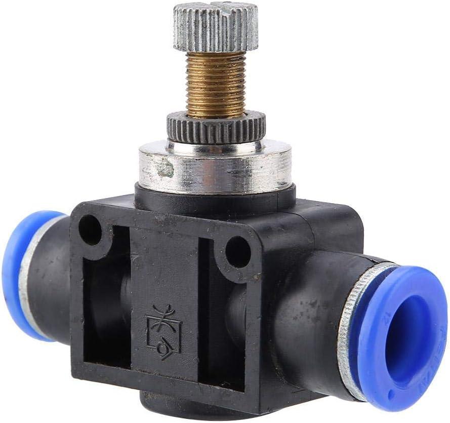 PA SA-4 Pneumatic Speed Valve Gas Inlet Control Air Speed Regulator 4//6//8//10//12mm