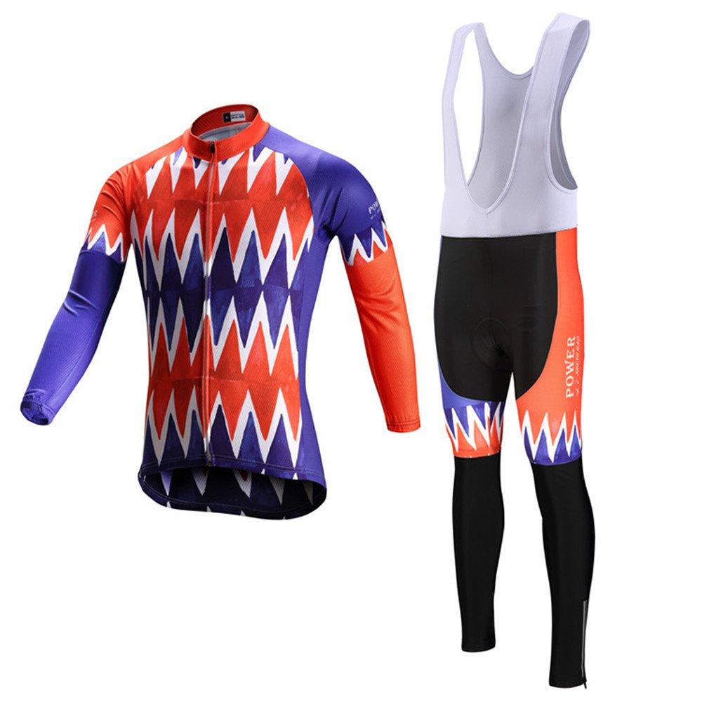Immortal Sports Power 2017 Winter-Thermo Fleece kommende Mode Lange Ärmel Radfahren Jersey Radsport Trikot Klassische Radsport-Trikot Reißverschluss