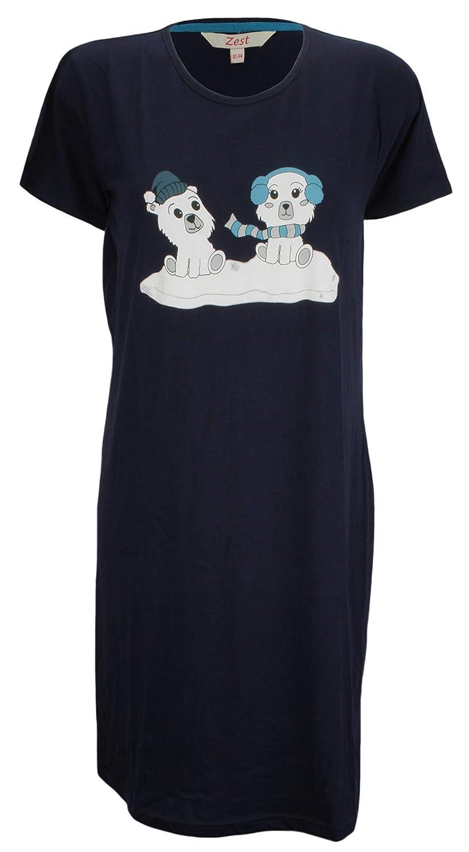 Camicia da Notte con Motivo Decorativo Fowever Dreaming in Jersey di Cotone