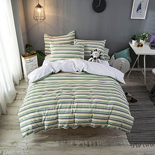 Merryfeel 100% cotton yarn dyed Duvet Cover Set - Twin