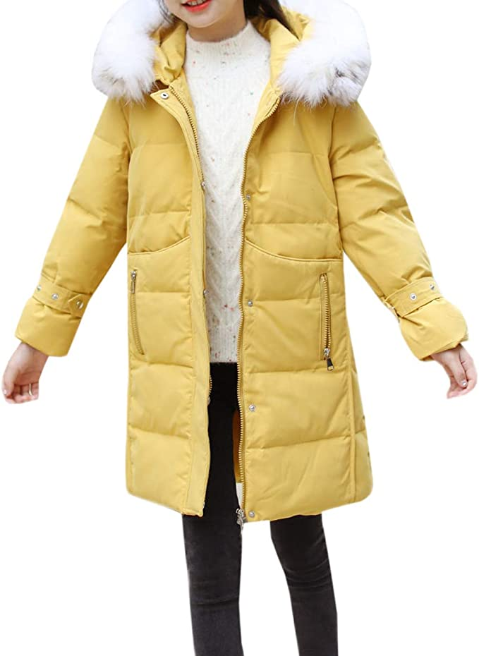 AnKoee Ragazza Bambini Piumino Cappotti Invernale Parka Cappotto Lunga Giacche