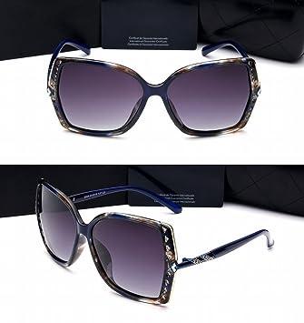 Polarisierte Sonnenbrille Damen Große Rahmen Fahren Farbe Linse Brille Sonnenbrille Fahrspiegel Tee-Rahmen Steigung Tee bxfshPTiF
