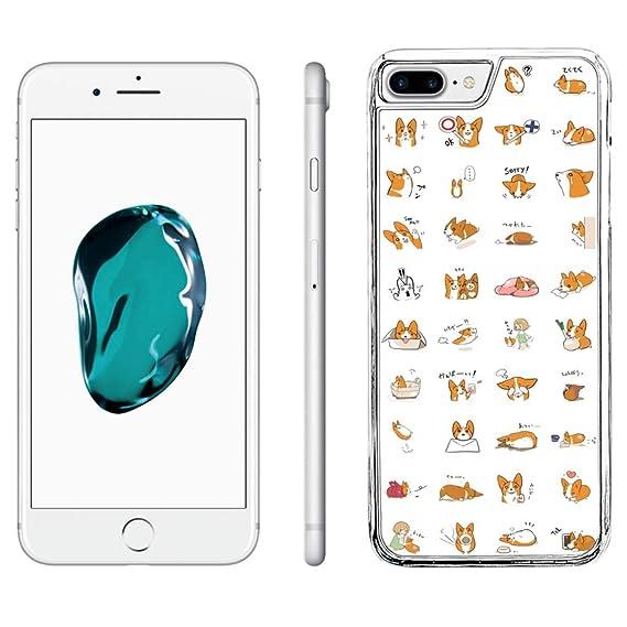 pretty nice c3a19 081af Amazon.com: iPhone 8 Plus Case,iPhone 7 Plus Case Corgi Dog,iPhone 8 ...