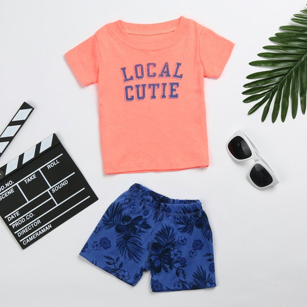 Outfits & Sets Toddler Kid Baby Girls Flower Deer Tops T-shirt Pants Shorts Outfits Clothes Set