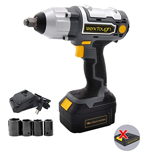 Uniteco 18 20V IW03 Cordless Impact Wrench Lion battery 1 2 Electric Impact Wrench Battery Charger Included