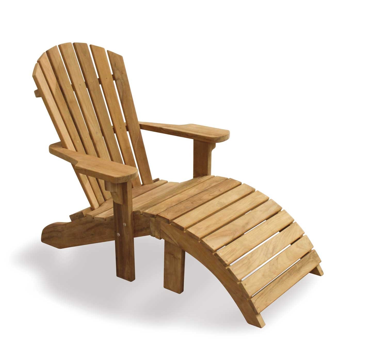 Teak Adirondack Bear Chair with Footstool Sturdy and Sustainable