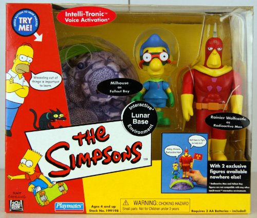 The Simpsons Exclusive Lunar Base Playset with Radioactive Man and Fallout Boy