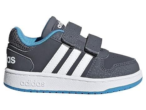 44c16b99cb00d Amazon.com: adidas Hoops 2.0 CMF - Infant Boys - Grey/Blue - UK ...