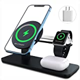 ANPULES 3 in 1 Magnetic Wireless Charger Station, Fast Wireless Charging Stand with PD 18W Adapter Compatible with iPhone 13