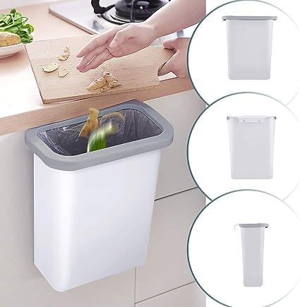 Dutison Küchen Mülleimer Hängender 10l Kunststoff Pp Mülleimer Für Küche Büro Badezimmer Auto Kinderwagen Weiß Küche Haushalt