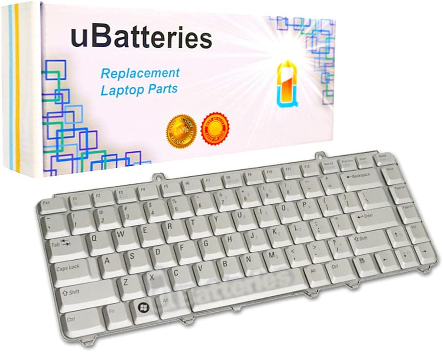 UBatteries Compatible Laptop Keyboard Replacement for Dell Inspiron 1410 1420 1421 1520 1521 1525 1526 NK750 JM629 LKB-DE05S - Silver