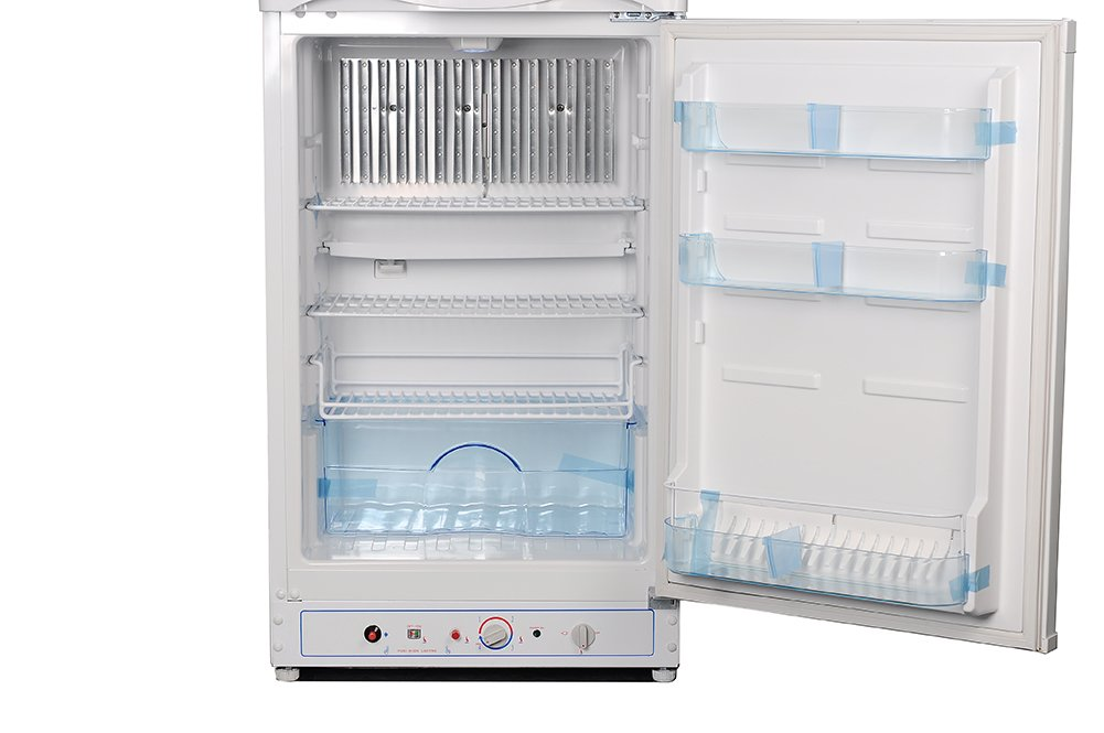 SMETA Electric110v/Propane Home Upright Top Freezer Refrigerator 6.1 Cu,ft,White by SMETA
