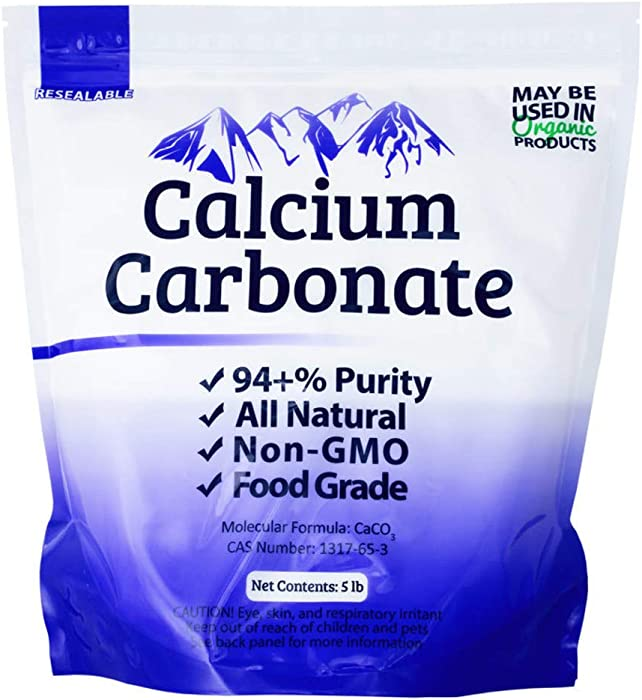 Duda Energy FGcc5f Food Grade 97+% Calcium Carbonate from Ground Limestone, 5 lb.