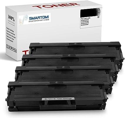SMARTOMI - 4 Cartucho de tóner Negro MLT-D111S Compatible con ...
