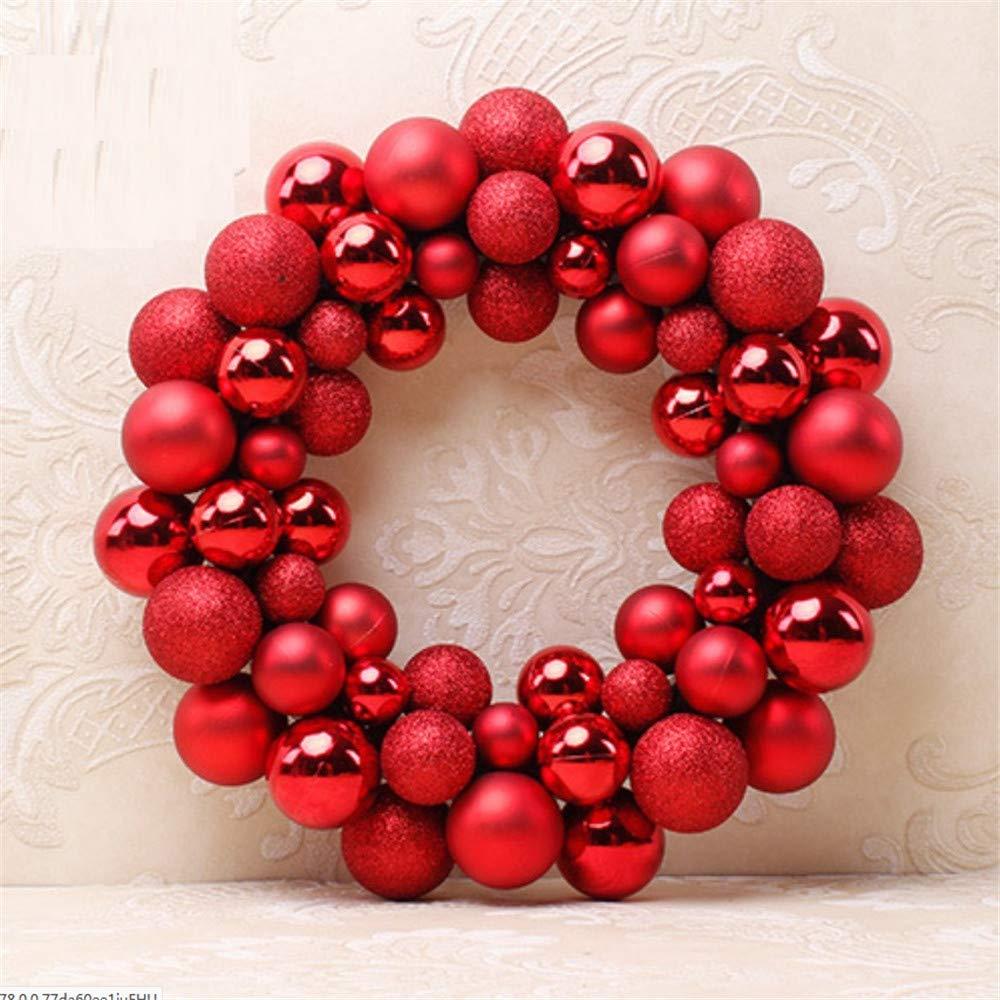 Christmas Ball Garlands.Amazon Com Shuangklei 35cm Christmas Wreath Decorative