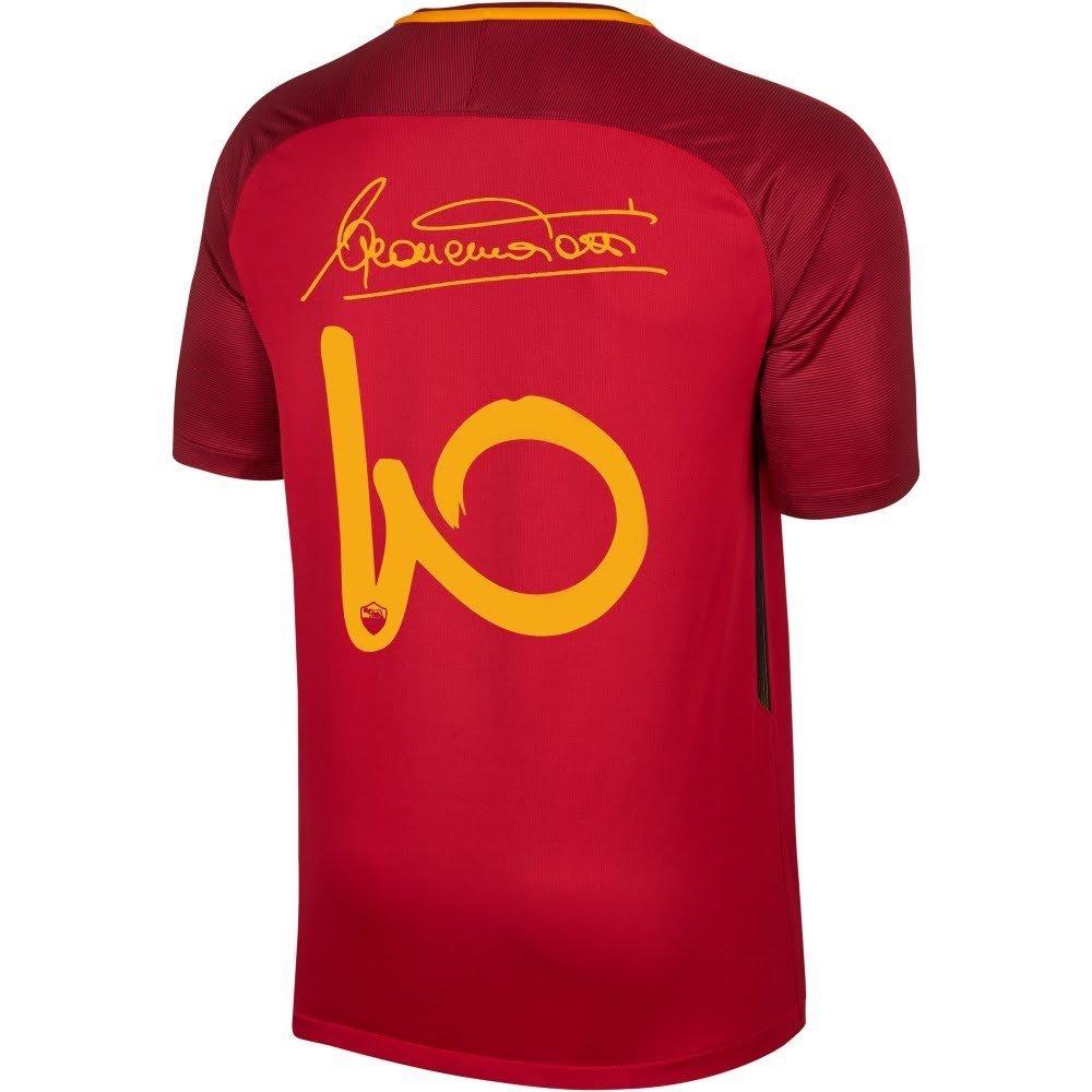 AsローマHome Totti署名ジャージ2017 /2018 B071GPQYSL Large