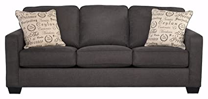 Ordinaire Ashley Furniture Signature Design   Alenya Sofa With 2 Throw Pillows    Microfiber Upholstery   Vintage