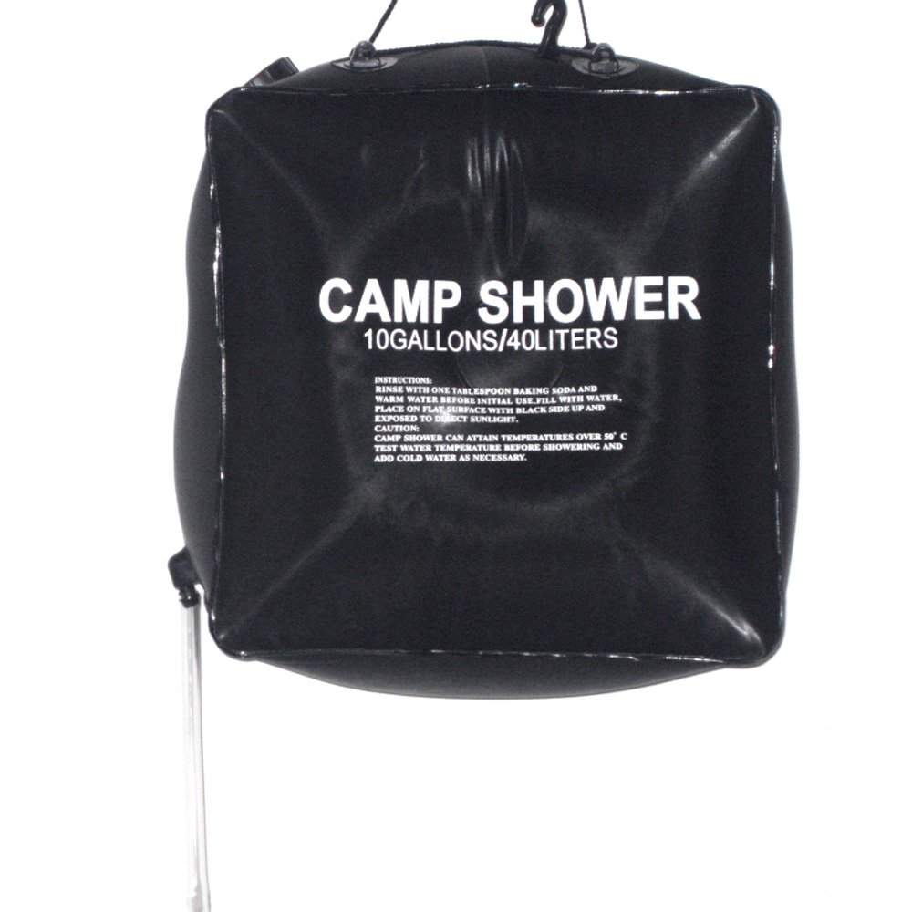 Docooler 40L 10 Gallon Camping Hiking Solar Heated Camp Shower Bag Outdoor Shower Water Bag MFRH10958