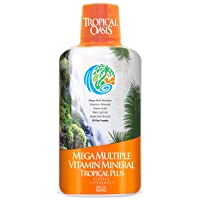 Tropical Oasis Mega Plus - Liquid Multivitamin and Mineral Supplement – Includes...