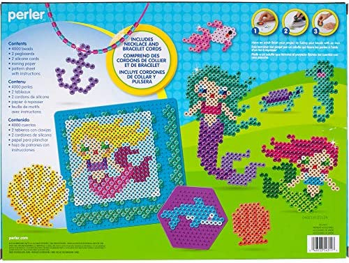 Beads 3D Ocean and Mermaid Fuse Bead Kit 4006pcs 22 Projects