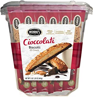 product image for Nonni's Biscotti Value Pack with Larger Cookies, Cioccolati, 25Count, Red (718605000000), 33.25 Ounce
