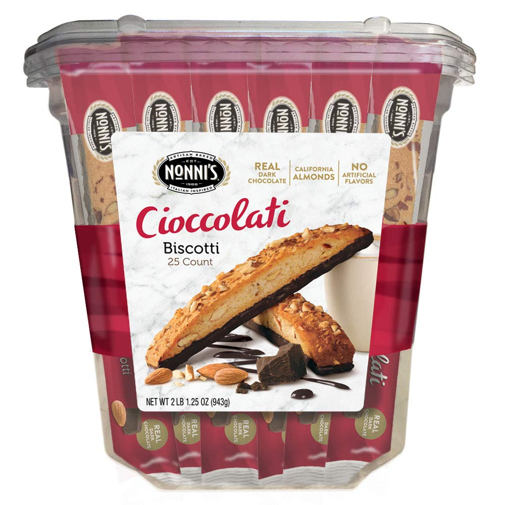 Nonni's Biscotti Value Pack with Larger Cookies, Cioccolati, 25Count, 2.1 lb by Nonni's