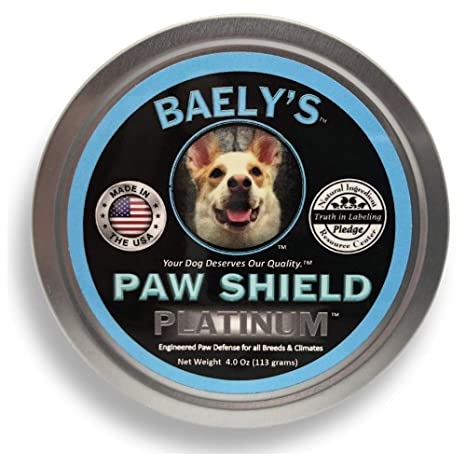 Dog Paw Balm Protection Wax - Trust The Original Made in America Paw Shield  | Relief for Raw Dry or Rough Paws | 4 oz Size | Paw Protector for Mushers