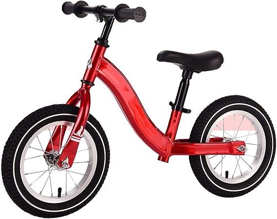 YUMEIGE Bicicletas sin pedales Bicicleta de Equilibrio para niños Adecuado For Luz De Aleación De Aluminio For Niños, Con Manillar De Dirección De 360 °, Rueda De Radios For Niños De 1-6