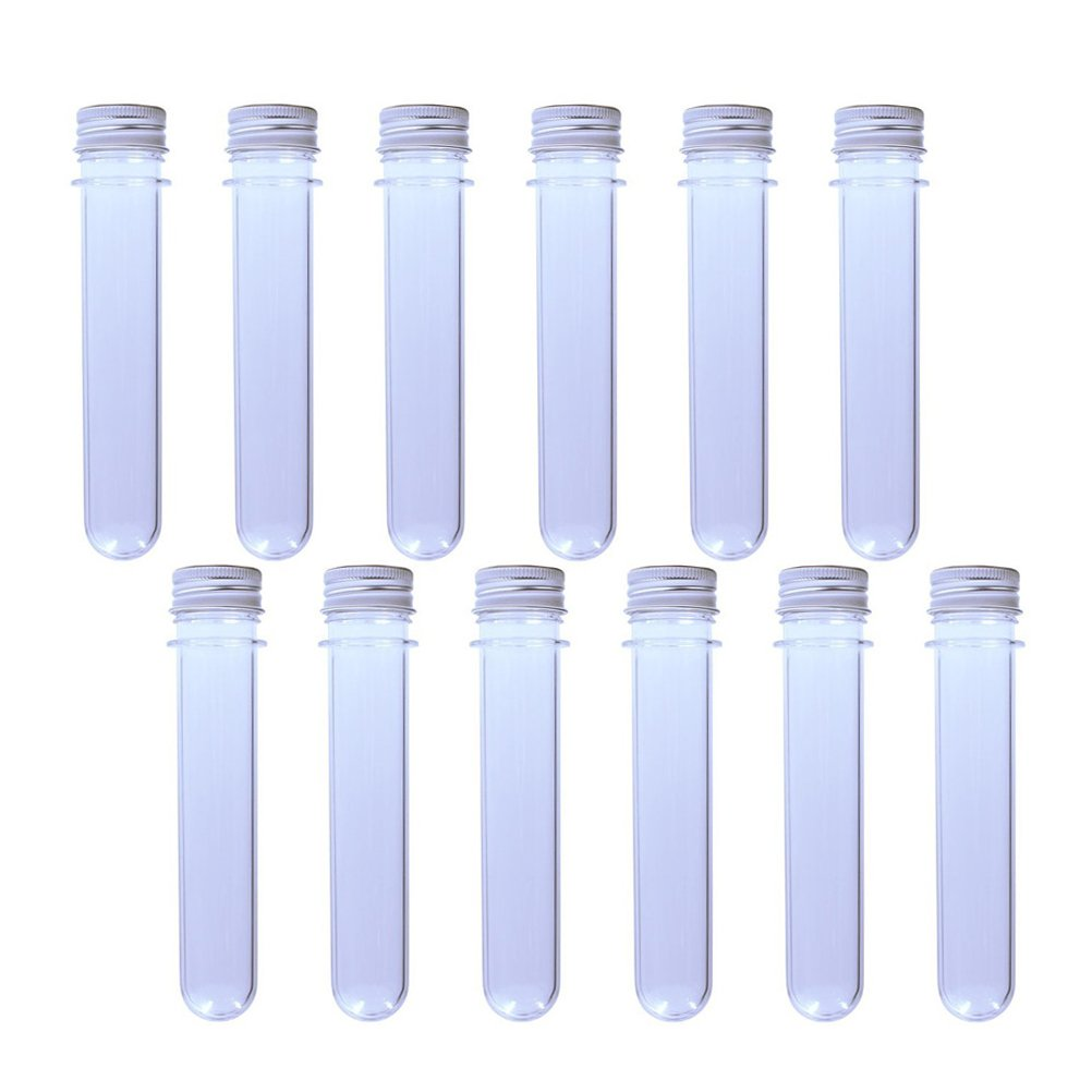 ULTNICE 12Pcs Plastik Test Tube Clear Packaging Tubes Kosmetik Reise Lotion Container Leere Tube 40ml