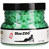 BlueZoo Depilatory Hard Wax Beans - 250 gms Can - Green Tea