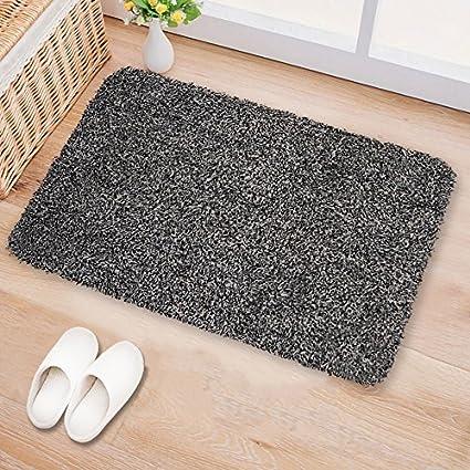 Indoor Doormat Super Absorbs Mud 18u0026quot;x28u0026quot; Latex Backing Non Slip Door Mat for & Amazon.com : Indoor Doormat Super Absorbs Mud 18