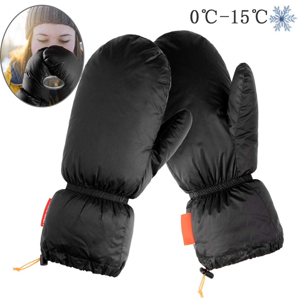 90/% G/änsedaunen F/üllung schwarz WING Extrem warm F/äustling Handschuh Herren und Damen Winterhandschuhe Thermo Skihandschuh Snowboardhandschuhe