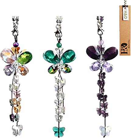 6 Sets H/&D Colorful Chandelier Crystals Chakra Suncatcher Ball Prisms Pendant Hanging Rainbow Octogon Fengshui Rearview Mirror Charm