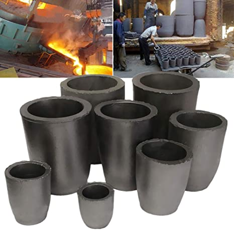 6 Sizes Pure Graphite Crucible Cup Propane Torch Melting Gold Silver