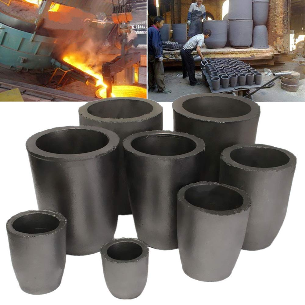 LTKJ 10KG Graphite Crucible Foundry Cup Furnace Torch Melting Casting Refining Gold Silver Copper Brass Aluminum Tool
