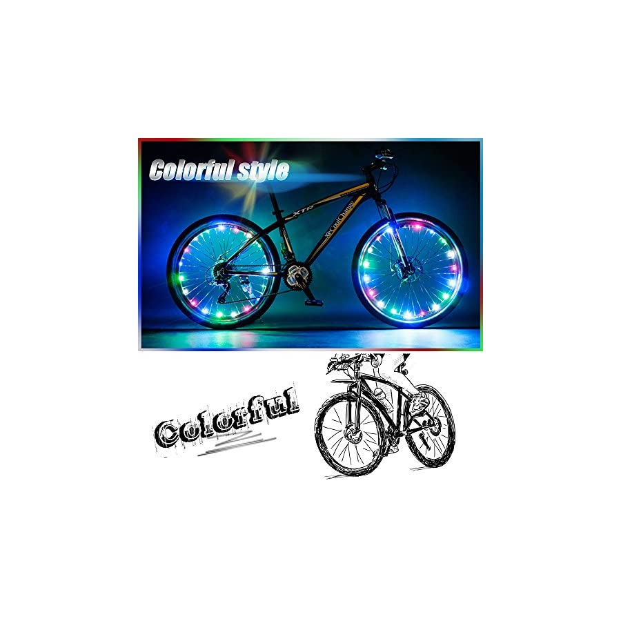 Bodyguard Bike Wheel Lights, Automatic and Manual Lighting, Waterproof Bicycle Wheel Light String, Ultra Bright LED (1Pack) with Batteries Included!